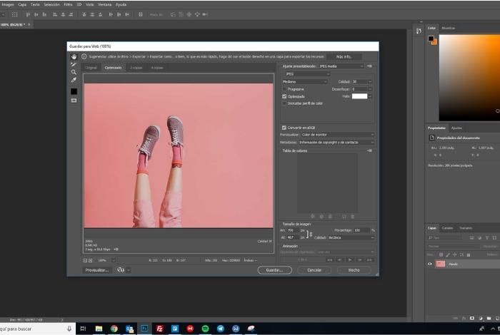 Optimizar las imágenes con Photoshop