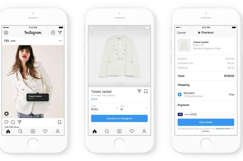 Ejemplo Zara de comprar en instagram