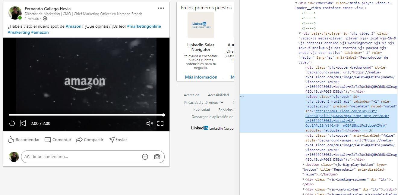 Descargar Vídeos de Linkedin