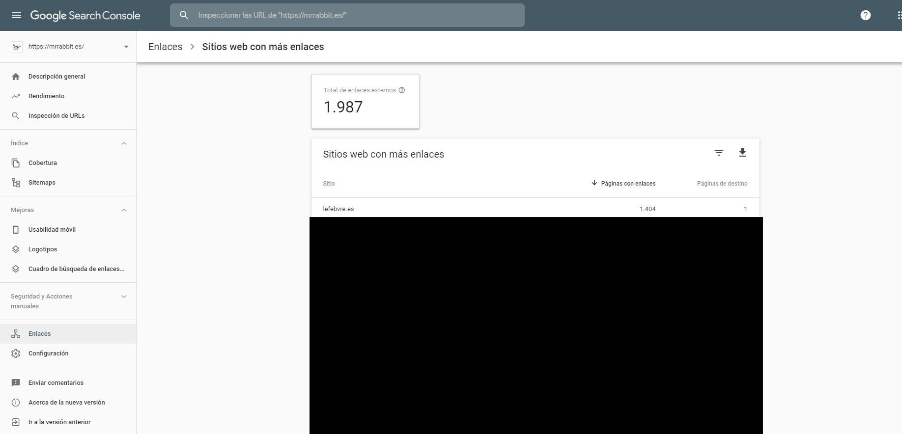 Google Search Console Disavow
