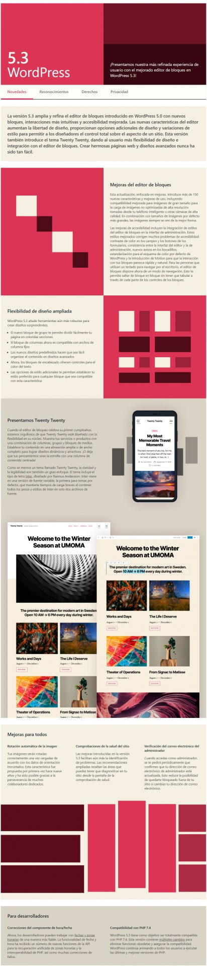 Novedades WordPress 5.3