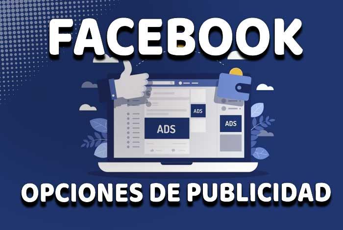 Opciones publicidad de Facebook