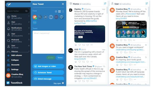 Programar en Twitter con Tweedeck
