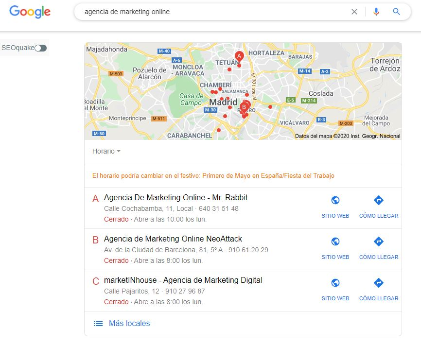 SEO local en My Business