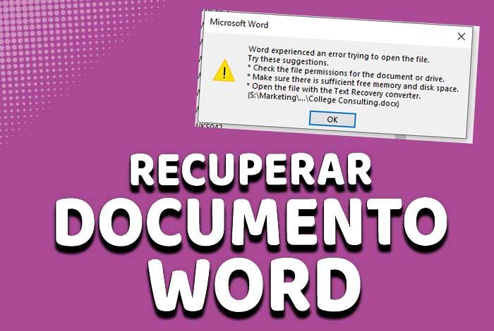 Recuperar un archivo de Word