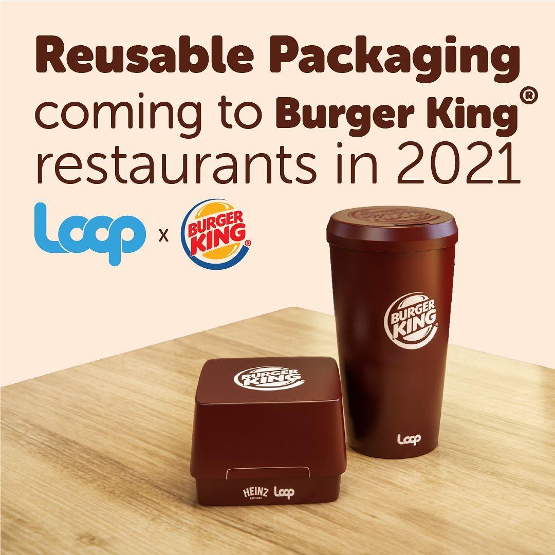 Envases reutilizables de Burger King