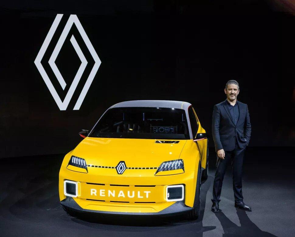 Logotipo Renault y R5 Concept