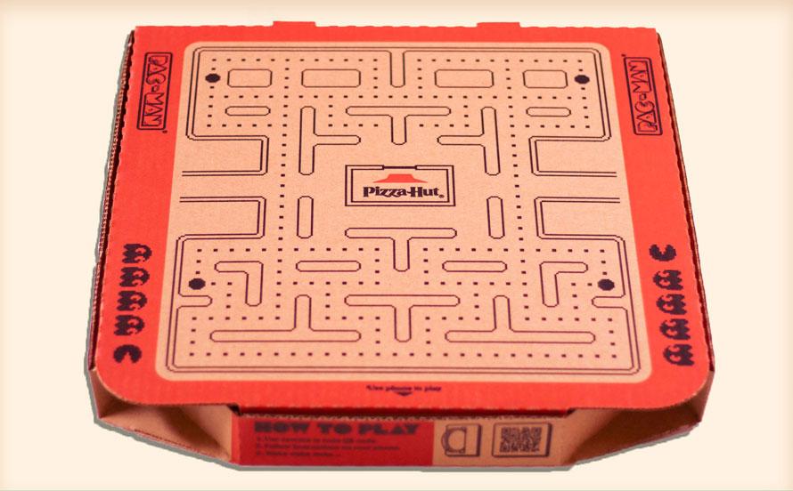 Pantalla Pacman juego en Pizza Hut