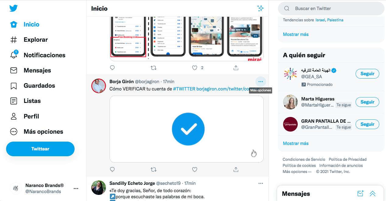 Insertar Tuit en nuestros artículos